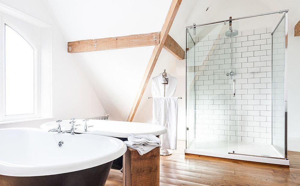 Дизайн ванной комнаты в скандинавском стиле (70 фото)