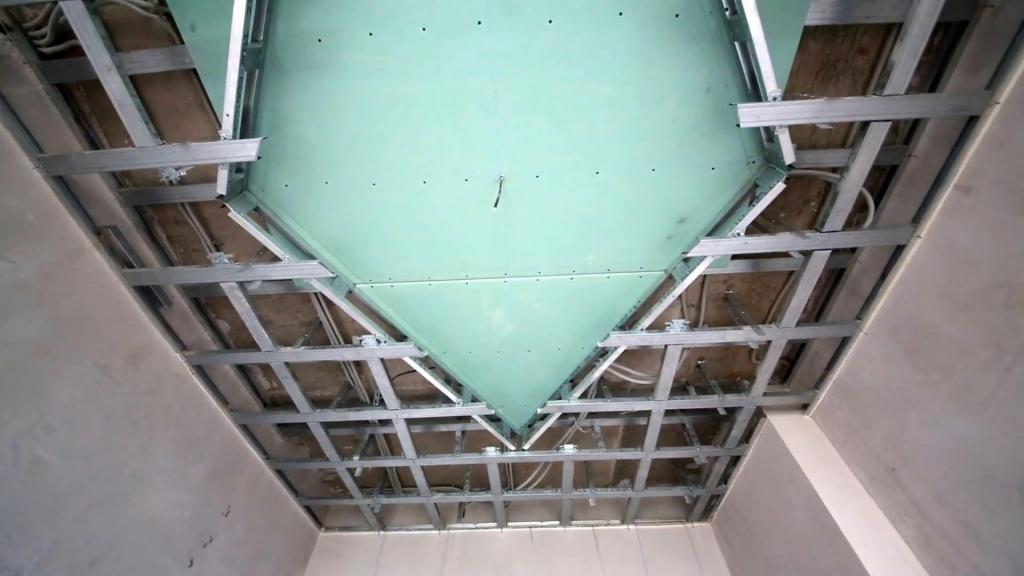 Как сделать двухуровневый потолок из гипсокартона, монтаж гкл