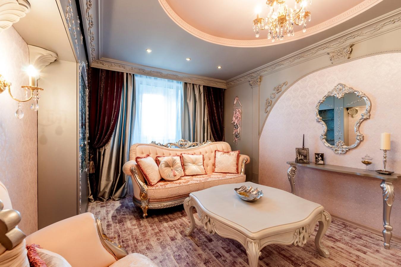 Квартира в стиле барокко: современный ремонт и интерьер разных комнат с фото
