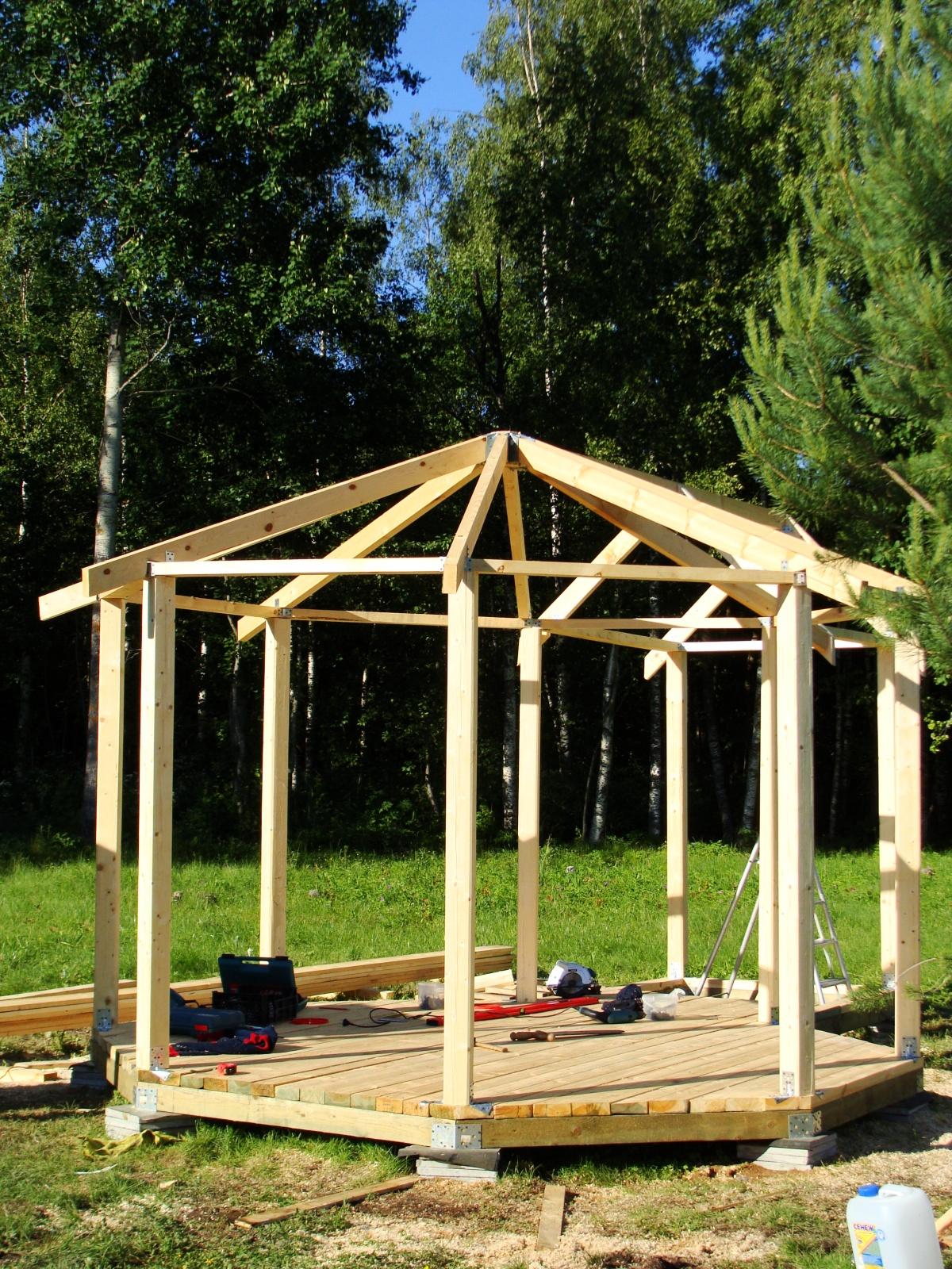 Беседка – пошаговая инструкция как сделать деревянную и кирпичную беседку своими руками (65 фото)