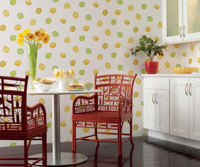 Какие обои лучше подойдут для кухни: выбираем цвет