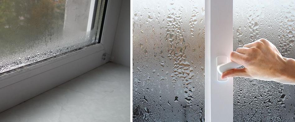 Почему сильно потеют пластиковые окна и что делать в этой ситуации? /