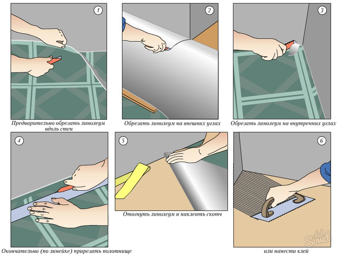 Укладка линолеума своими руками: пошаговая инструкция