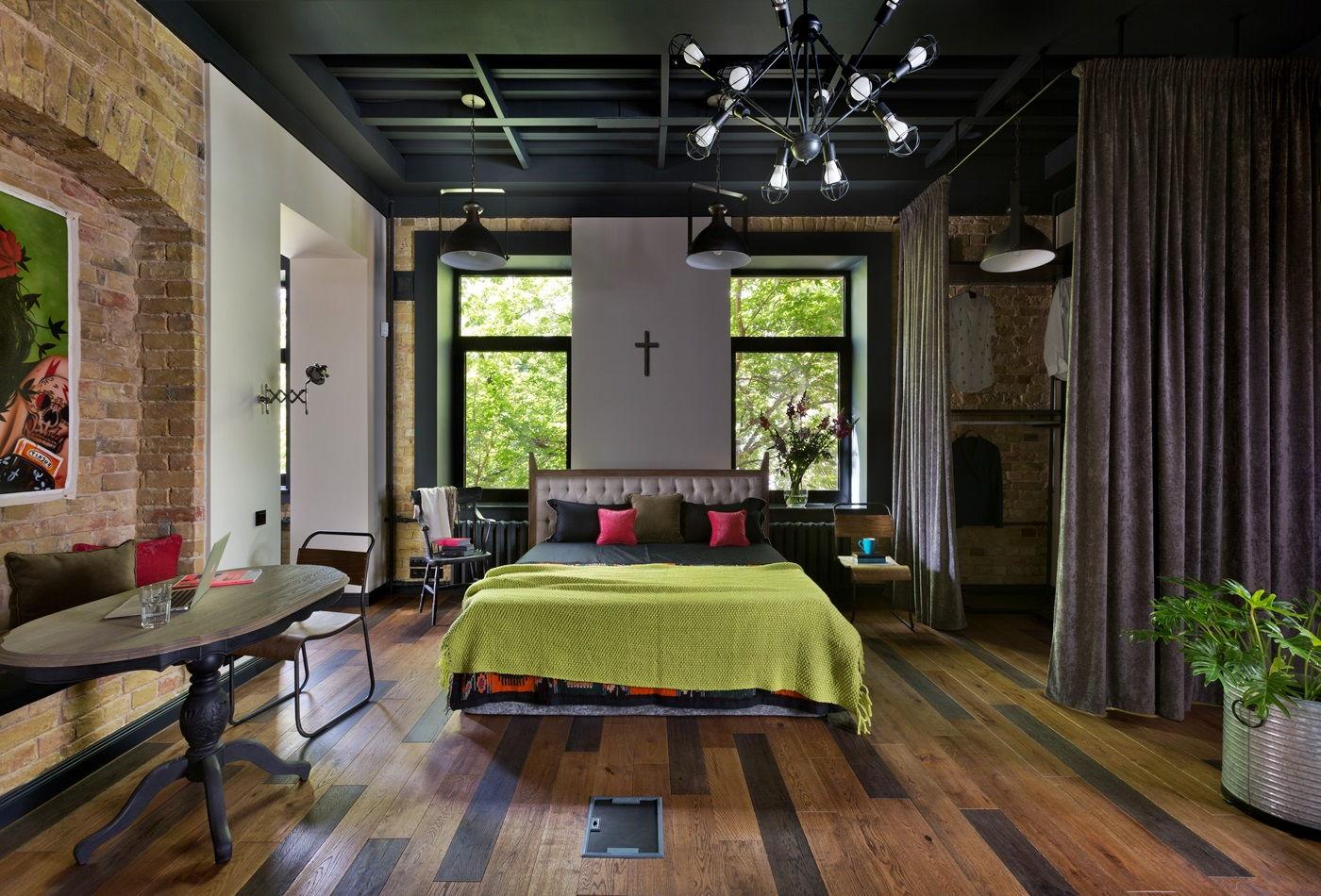 Спальня в стиле лофт: стильные идеи, секреты применения и нюансы оформления спальни (110 фото)