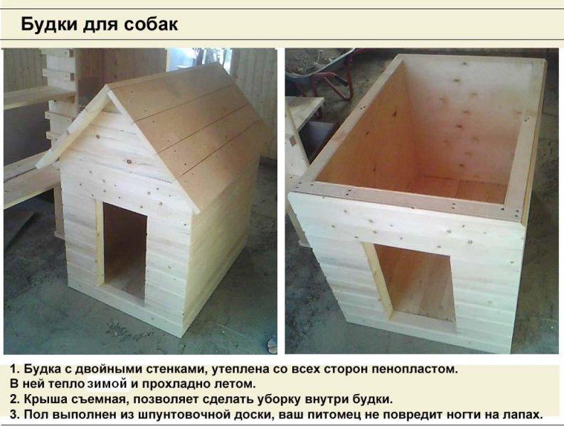 Будка для собаки: строим теплую конуру