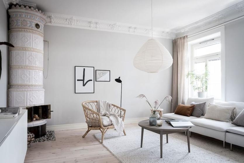 Интерьер гостиной в скандинавском стиле - характерные черты, особенности отделки, советы и фото идеи