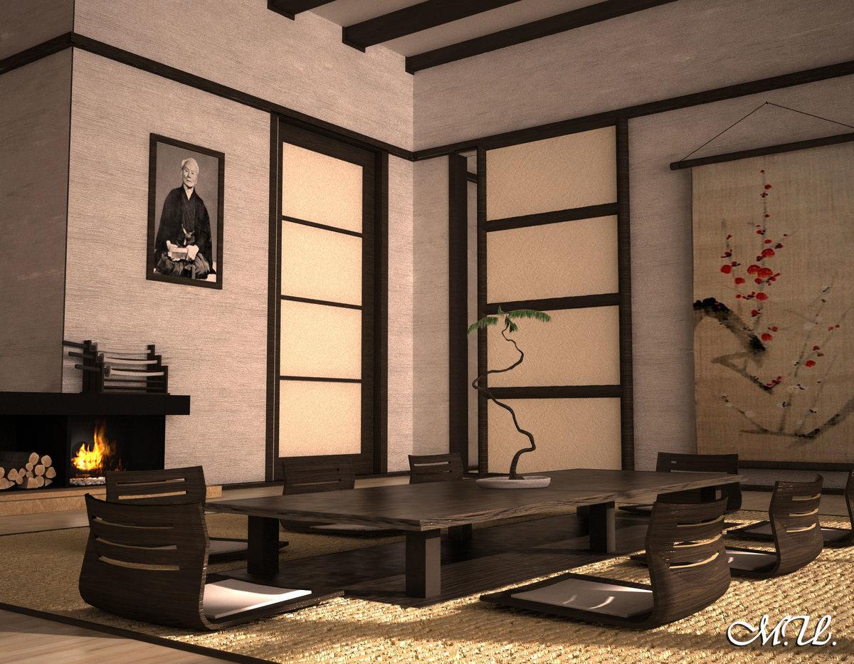 Японский стиль в интерьере | 100+ идей (45 фото)