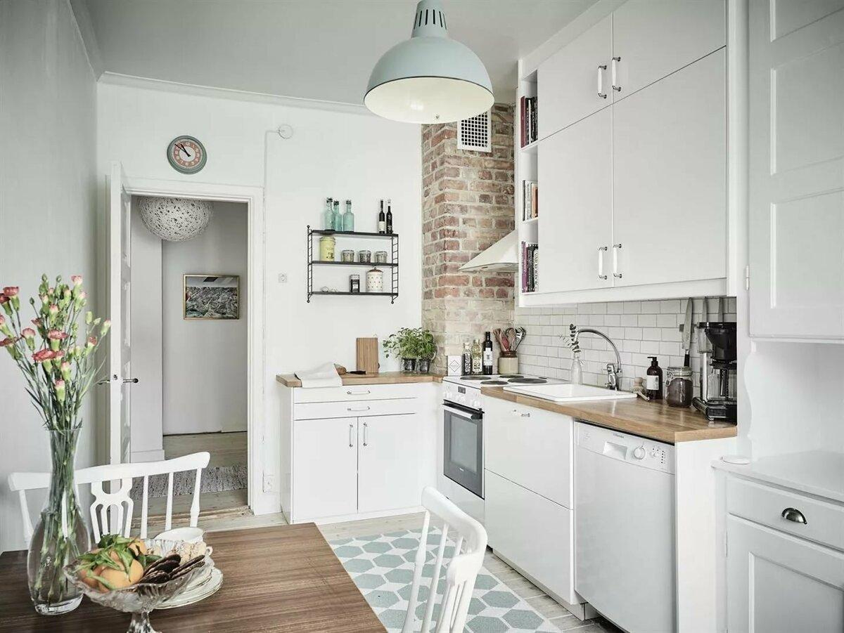 Дизайн кухни в скандинавском стиле (80 фото)