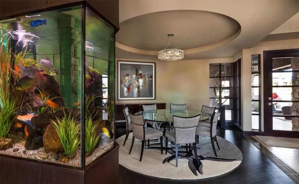 Аквариум в интерьере – 38 идей для вашей квартиры и дома