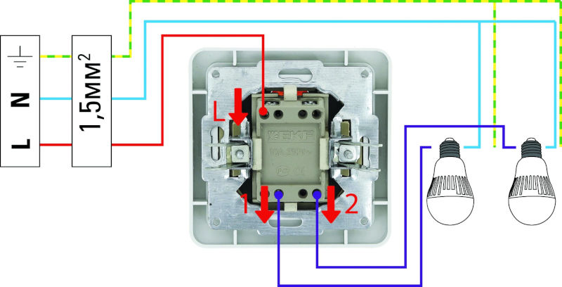 Как подключить выключатель к лампе. пошаговая инструкция.