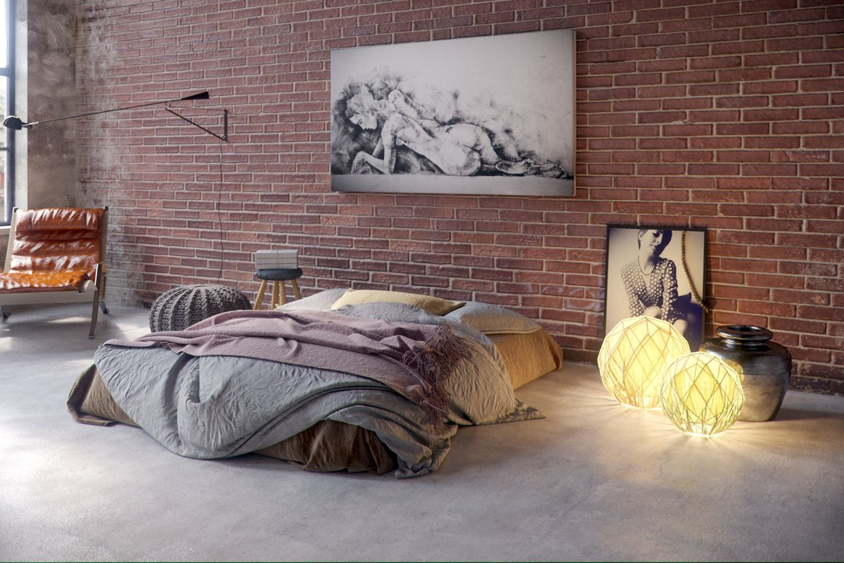 Спальня в стиле лофт: идеи подбора красивого декора (120 фото)
