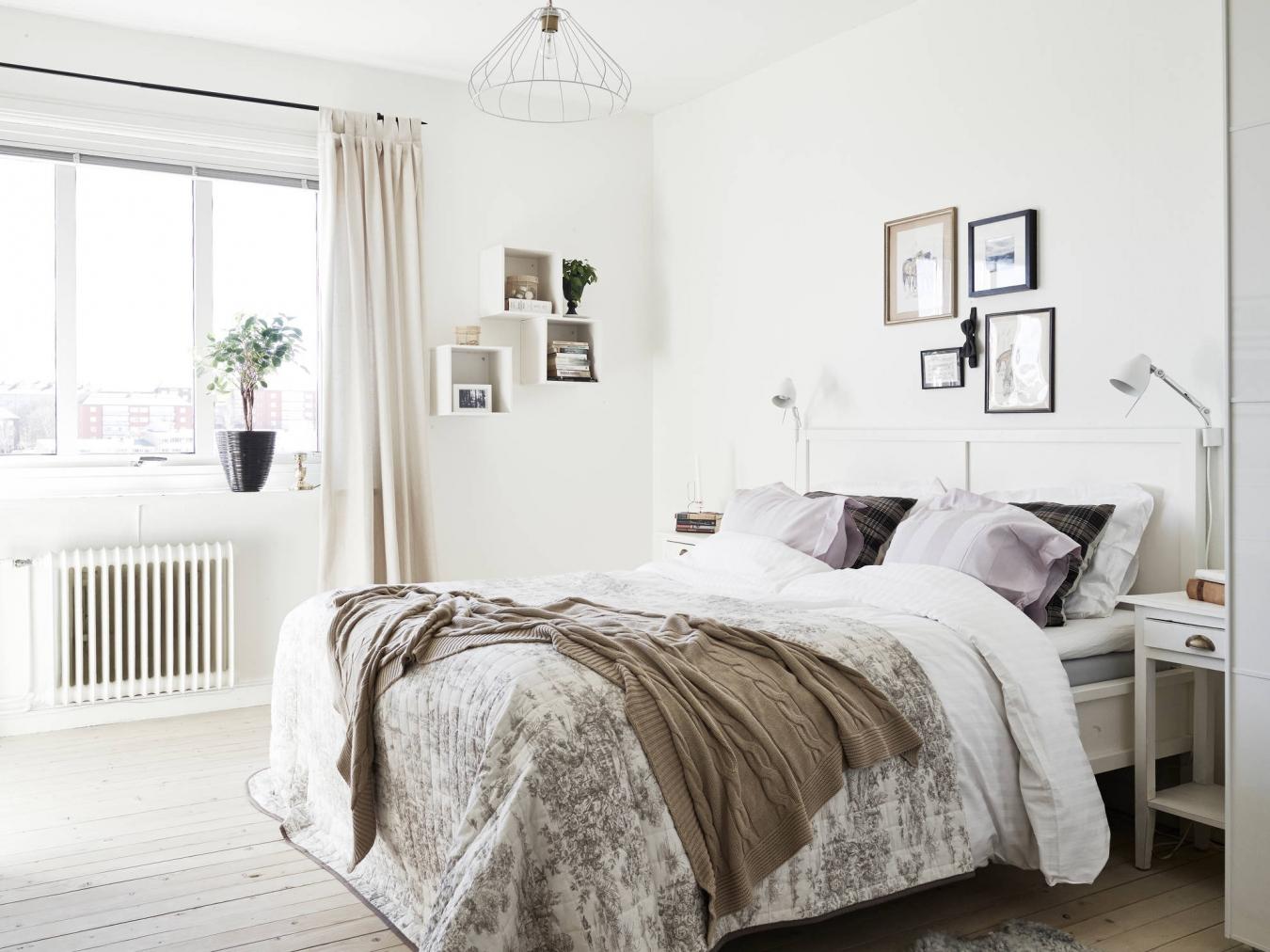 Дизайн спальни в скандинавском стиле - интересные цветовые сочетания, обустройство, фото идеи