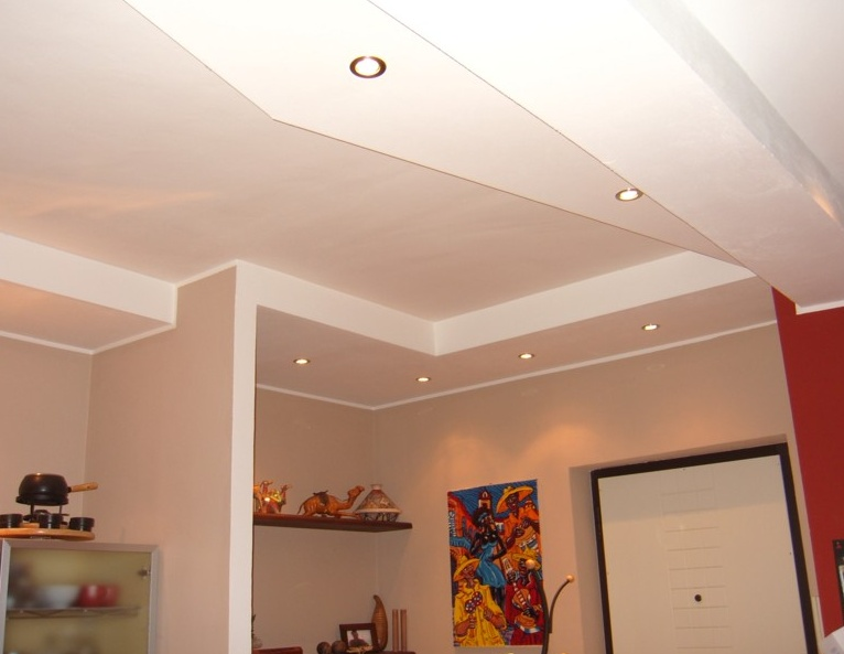 Сборка потолка из гипсокартона