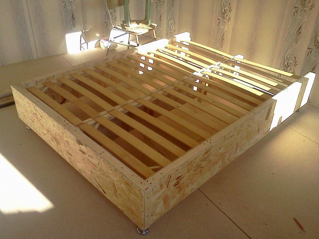 Инструкция по изготовлению каркаса кровати своими руками - из дерева и металлический с чертежами и фото