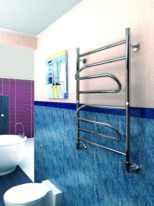 На какой высоте должен быть установлен полотенцесушитель в ванной
