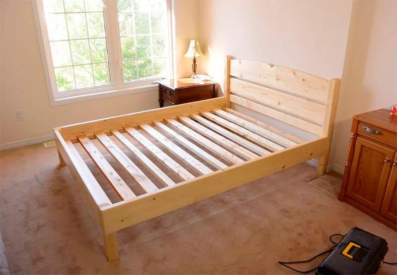 Как сделать металлический или деревянный каркас кровати