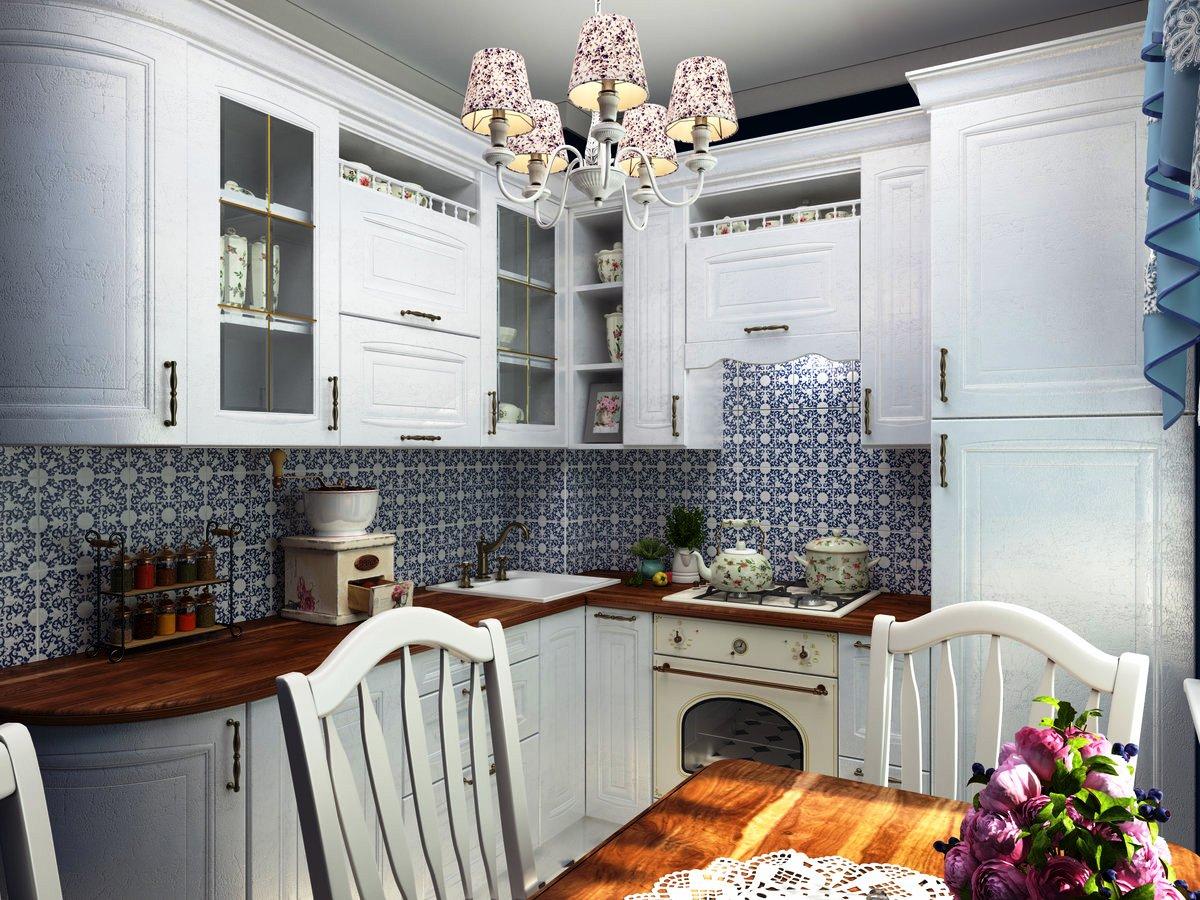 Дизайн совмещенного интерьера кухни-гостиной в стиле прованс: фото и ответы на главные вопросы