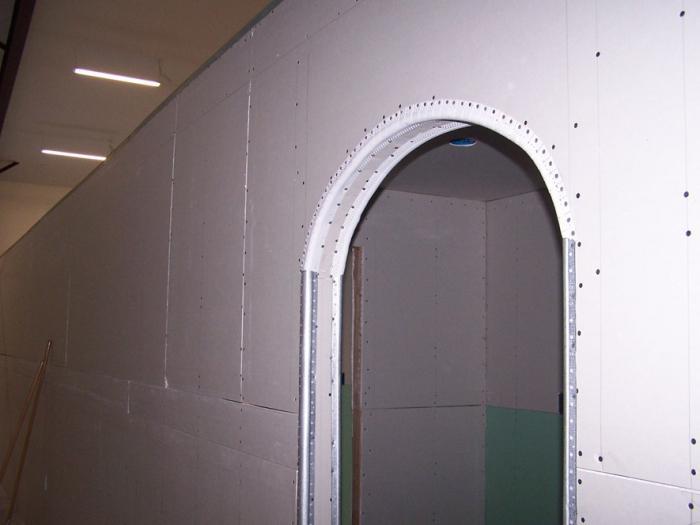 Конструкция арки из гипсокартона