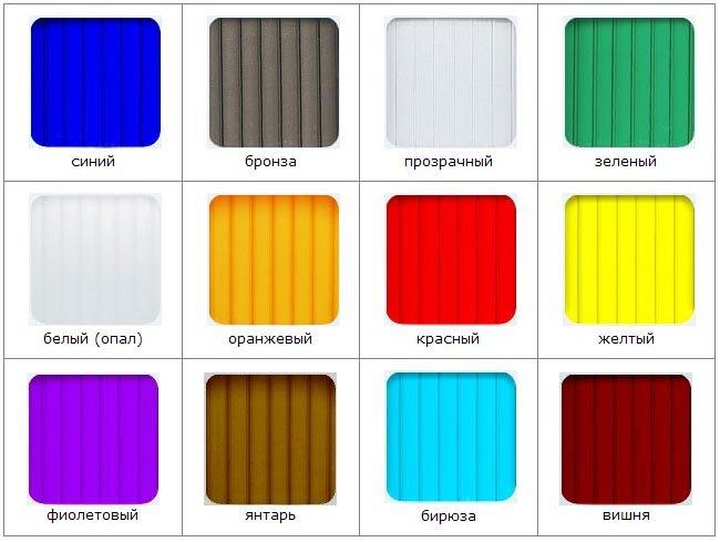 Стандартные размеры листов сотового и монолитного поликарбоната