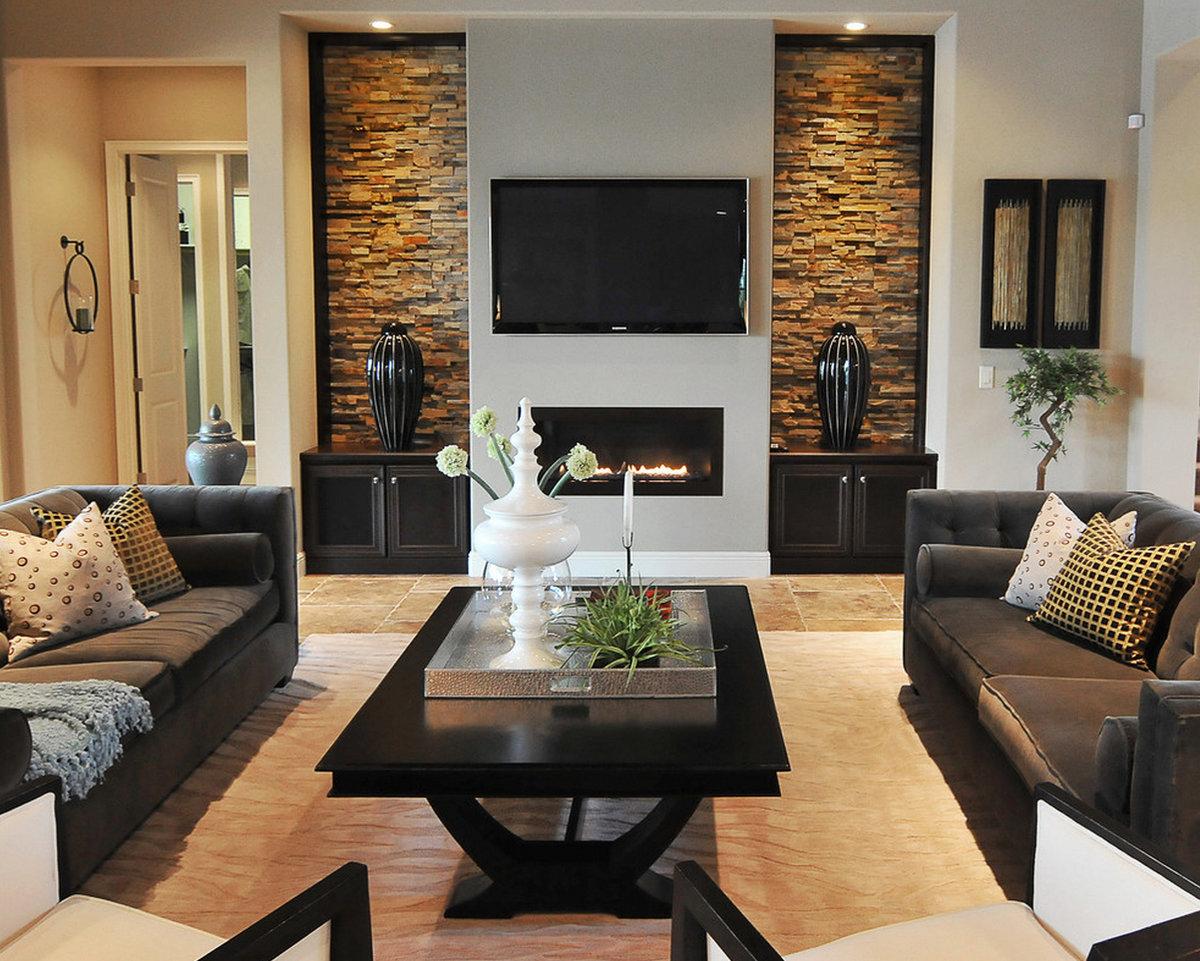 Гостиная с камином – установка и оформление натуральных и искусственных каминов в интерьере гостиной (105 фото)
